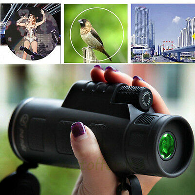 2016 Panda 40X60 Zoom Outdoor Night Monocular HD Vision Telescope Binoculars USA