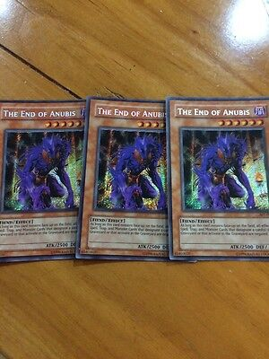 Yugioh The End of Anubis AST-000 Unlimited Secret Rare Near Mint 3x