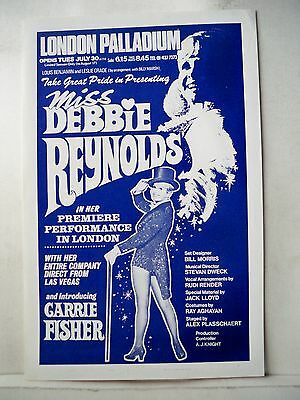 DEBBIE REYNOLDS / CARRIE FISHER Herald LONDON PALLADIUM 1974