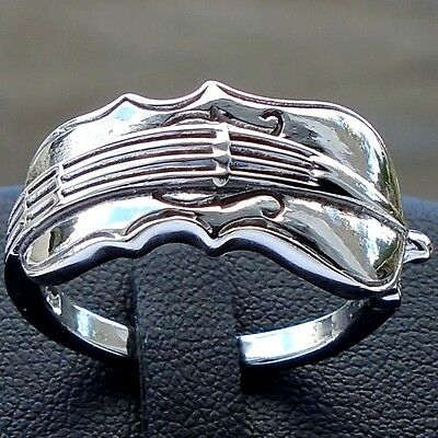 Viola Violin Music Instrument 925 Sterling Silver Ring Size 8 Solid Hall N S New
