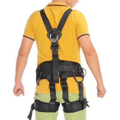 Full Body Rock Tree Climbing Safety Harness Belt Fall Arrest Protection Gear
