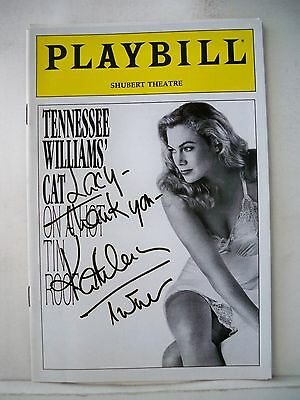 CAT ON A HOT TIN ROOF Playbill KATHLEEN TURNER Autographed TRYOUT Boston 1990