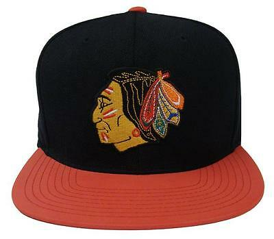 Chicago Blackhawks Fitted Mitchell & Ness Slate Reflective Black Red Hat Cap