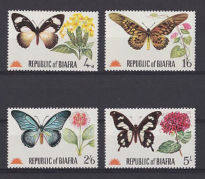 BIAFRA - 1968 Butterflies and Flowers - MNH/VF - See note in Scott
