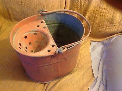 Vintage Mop Bucket Garden Planter Shabby Decor