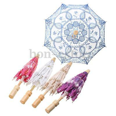New Elegance Lace Embroidered Parasol Bridal Wedding Party Decoration Umbrella