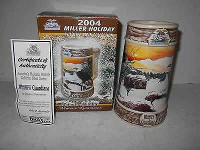 2004 Miller Holiday Wildlife Stein Collection - Winter's Guardians