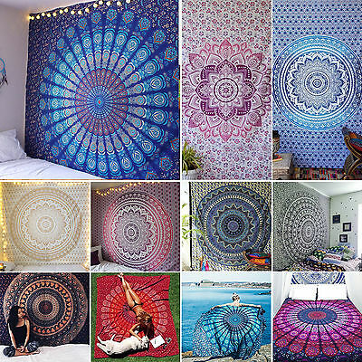 Indian Twin Bohemian Tapestry Wall Hanging Mandala Throw Hippie Bedspread Sheets