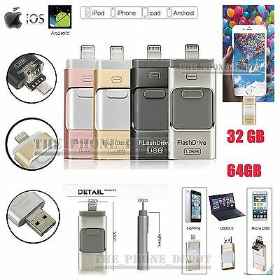 i-Flash Drive OTG Device USB Memory Stick 32 64 128GB For iPhone iPad Android PC