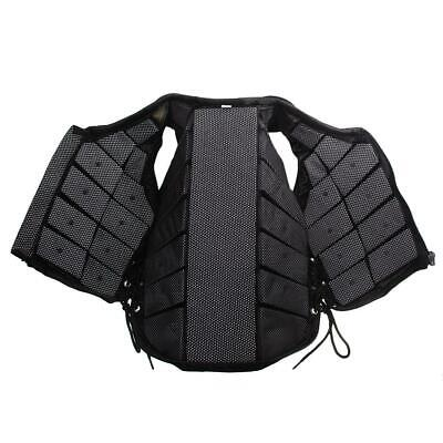 Black Padded Equestrian Horse Riding Safety Protective Vest Youth Adult XS-XXXL