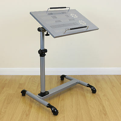 Silver Laptop Table Stand Portable/Moveable Design With Cooling Holes Notebook