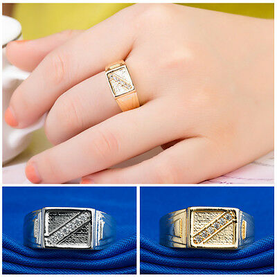 8mm Stainless Steel Band Mens Womens Wedding Ring Silver Gold Size 6-8
