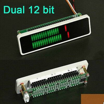 Double 24 bit Stereo LED level display VU level indicator meter AGC Mode + CASE