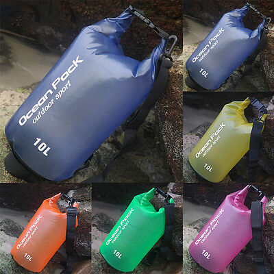 2L PVC Translucent Waterproof Dry Bag Sack For Canoe Floating Boating Camping