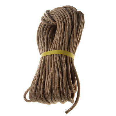 40M Khaki Tree Rock Climbing Auxiliary Rope Safety Fire Rescue Cord Pro Gear
