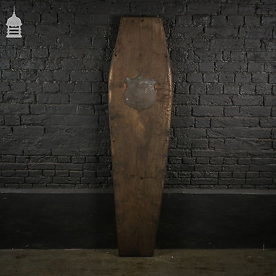Unused Solid Oak Coffin Lid with Plaque