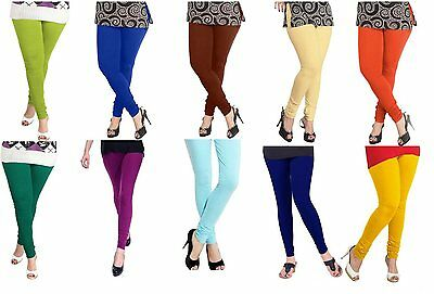 Wholesale Lot 10 Pcs Women Churidar Legging Cotton 4Way Yoga Pants For Kurti Top