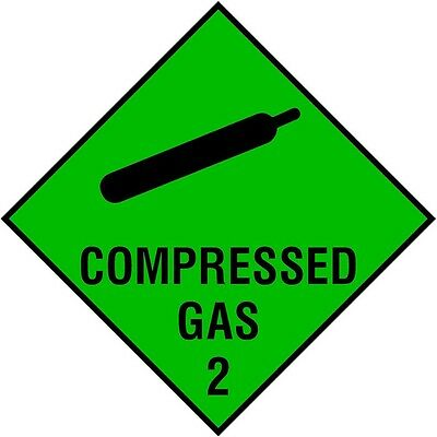Compressed Gas Magnetic Vehicle Sticker-Ambulance, Paramedic, First Responder