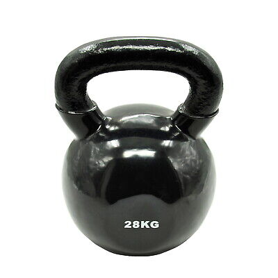 28Kg Iron Vinyl Kettlebell Weight - Gym Use Russian Cross Fit Strength Training