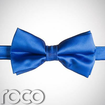 Boys Royal Blue Banded Dickie Bow Tie Wedding Prom Page Boy Dickie Bows