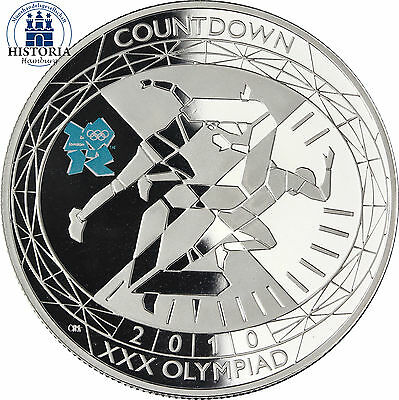 #397-  £5 UK  2010 Countdown to London 2012 Olympic Games Sterling Silver Coin