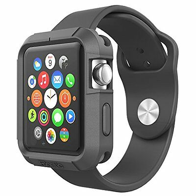 Rugged Accessory Protect Case Bumper Silicone For 42mm Apple Watch iWatch Black