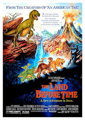 The Land Before Time (1988) - A1/A2 POSTER **BUY ANY 2 AND GET 1 FREE OFFER**