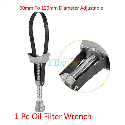 Car Auto Oil Filter Removal Tool Strap Wrench Diameter Adjustable 60mm To 120mm