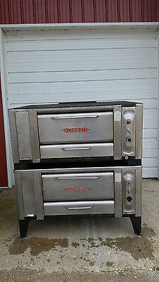 Blodgett Double Stack Stone Deck 1000 Ovens Natural Gas Tested