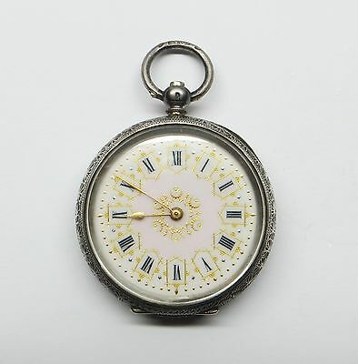 Antique Continental Silver ladies Fob Pocket Watch