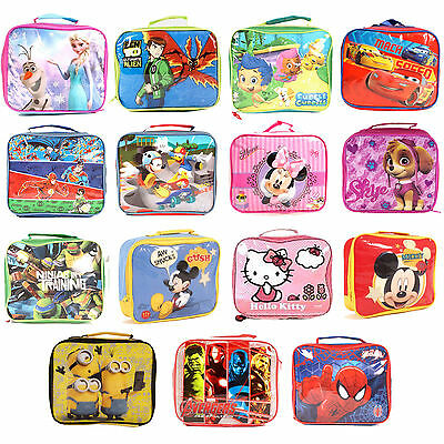 Childrens Insulated Lunch Pack Box Bag Kids Boys Girls School Food Picnic Box