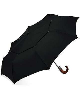 $217 Shedrain Automatic Open/close Black Wood Handle Compact Folding Umbrella