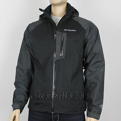 "New Mens Columbia ""Rain Tech II"" Omni-Heat Omni-Tech Vented Rain Wind Jacket"