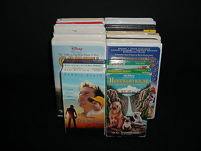 Lot of 12 Walt Disney Childrens Family Video Tape VHS Movies Videos