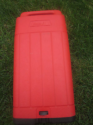 "Coleman Used But Clean Red Gas Lantern Part. Carrying Case For 15"" Gas Lanterns."