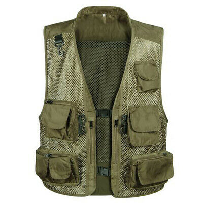 Multi Pocket Outdoor Fly Fishing Hunting Photography Jacket Waistcoat Mesh Vest