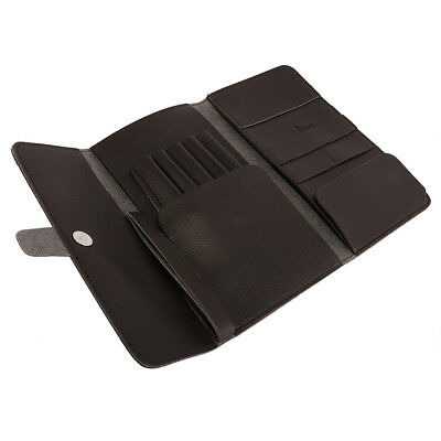 Foldable Barber Hairdressing Scissors Combs Pouch Holder Case Bag - Brown