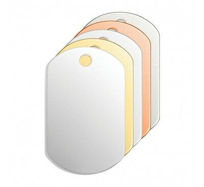 """Dog Tag, 1 1/4""""- Stamping Blank, 24 pc- Choose Metal Jewelry & Craft Discs"""