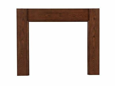 Fireplace Full Surround Mantel Rustic Brown Oak Finish Contemporary Home Hearth