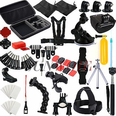 59 pcs Go Pro Camera Accessories Case Head Mount For Gopro Hero 5 4 3 3+ 2