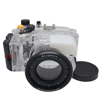 Mcoplus 40M/130ft Underwater Diving Housing Case for Sony DSC-RX100 Camera RX100