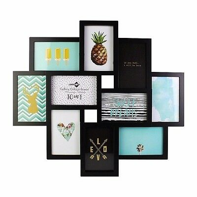 54.5x49CM Gallery Collage Frame 10 in1 Black Wall Hanging Ideal Home Decor