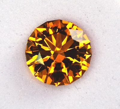 Citrine - Brazil - 1.65 Carat - Round Brilliant - Precision Cut