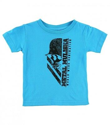 Metal Mulisha World Wide Domination Turquiose Blue Baby Boys T-Shirt 6-18 Months