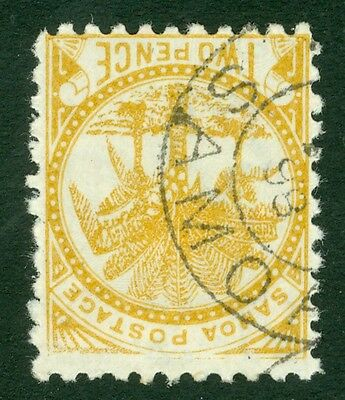 SG 59c Samoa 2d pale ochre. A very fine used CDS example CAT £12