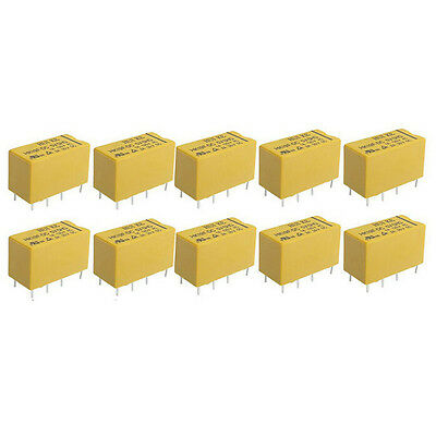 10 x DC 5V Coil 8 Pins DPDT Power Relay HK19F #WI