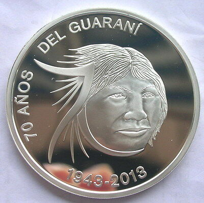 Paraguay 2013 Indigenous Guaranie Silver Coin,Proof