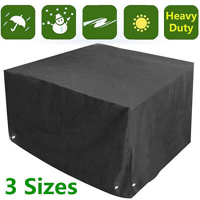 Seater Garden Patio Rattan Table Chairs Furniture Sets Cube Cover Waterproof