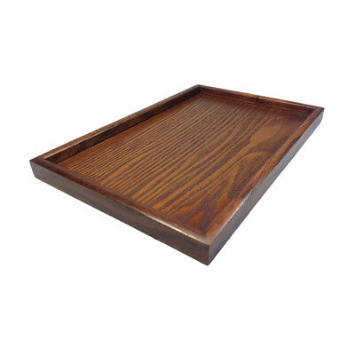 Serving Tray Tea Food Server Dishes Platter Brown DIY Square Wooden Plate-XL