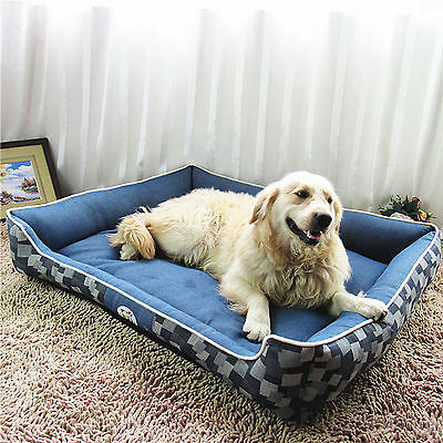 Large Puppy Pets Dog Bed Cat Basket Cushion Pillow Mat w/Zipped Cover 70*55*22cm